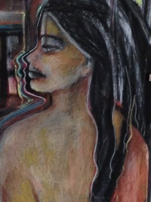 Luise Andersen: 'October Me I To Draw IAB Detail III', 2014 Pastel, Abstract. Artist Description:   this is detail, lower area of pastel art work.   ...