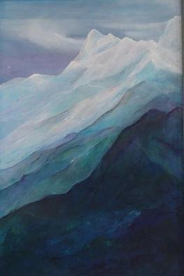Luise Andersen Artwork On Top Of ll, 2002 Acrylic Painting, Landscape
