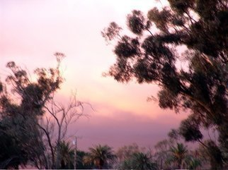 Color Photograph by Luise Andersen titled: PEEK AT SUNSET Over wall Two, 2009