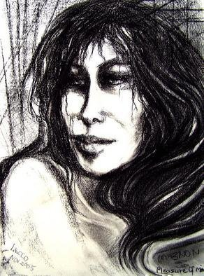 Artist: Luise Andersen - Title: PLEASURE of moment - Medium: Charcoal Drawing - Year: 2005