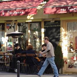 Paris Series Sidewalk Caffee View