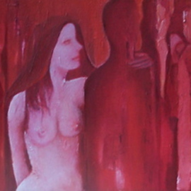 Luise Andersen Artwork REDS   Neutral Light  MARCH SIX, 2008 Oil Painting, Surrealism