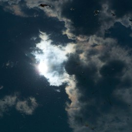 Luise Andersen Artwork Reflections SKY MIRRORED IN THE POOL VII, 2011 Color Photograph, Sky
