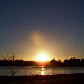 SETTING SUN AT BALBOA LAKE I End Of December TwoOTwelve