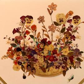Luise Andersen Artwork Spring Bouquet, 2002 Collage, Botanical