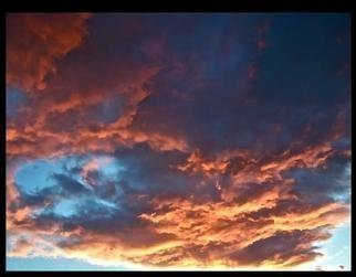 Luise Andersen Artwork Sunsets Series MIG I, 2013 Color Photograph, Sky