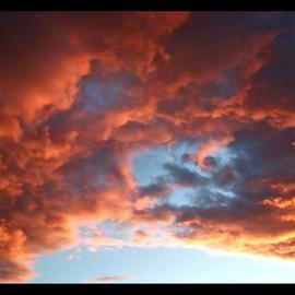 Luise Andersen: 'Sunsets Series MIG II', 2013 Color Photograph, Sky. Artist Description:    . . . after heavy rain. . . and winds. . . Sunsets are incredible in beauty. . cloud formations so vibrant. . or strong. . or both. . deep and 'moody' . . or brilliant in brights. . took many series of clouds. . never really' same' . . they change colors and forms within seconds. . could not put camera down. . . until dark set ...