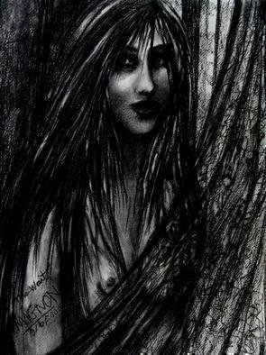 Artist: Luise Andersen - Title: THE WAIT - Medium: Charcoal Drawing - Year: 2005
