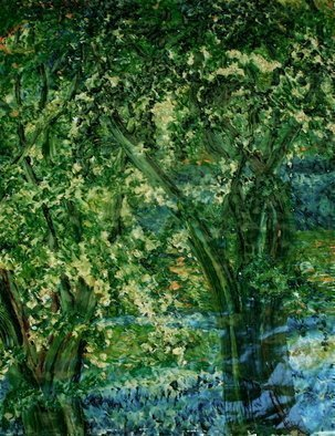 Trees Oil Painting by Luise Andersen Title: TOUCH OF SUMMER , created in 2008