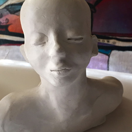 Luise Andersen: 'UNTITLED I create the feel continuance of ', 2016 Clay Sculpture, Abstract Figurative. Artist Description:  hands mold. . sculpt. . smooth. . express the feel . . constant changes . .back to number oneaEUR|open to my mood changes. . leaves me inspired with new creative touches. .  ...