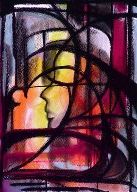 Luise Andersen Artwork UNTITLED    Indoor Photo Of Art Piece, 2008 Pastel, Abstract Figurative