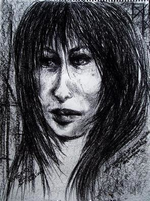 Artist: Luise Andersen - Title: WHEN  - Medium: Charcoal Drawing - Year: 2006