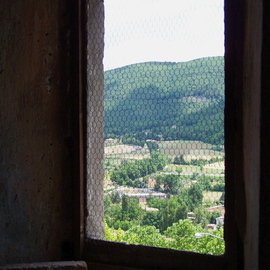 ANCIENT WINDOW ONTO UMBRIA HILLSIDE