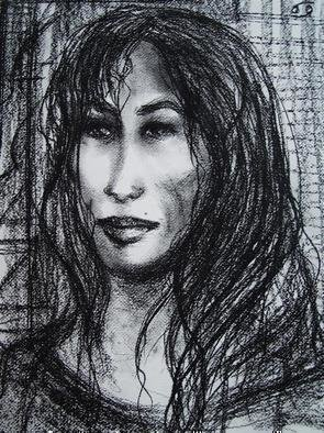 Artist: Luise Andersen - Title:  FEMME - Medium: Charcoal Drawing - Year: 2006