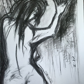 Luise Andersen Artwork  IN BLACK ON WHITE I JUNE 12 2015, 2015 Charcoal Drawing, Abstract