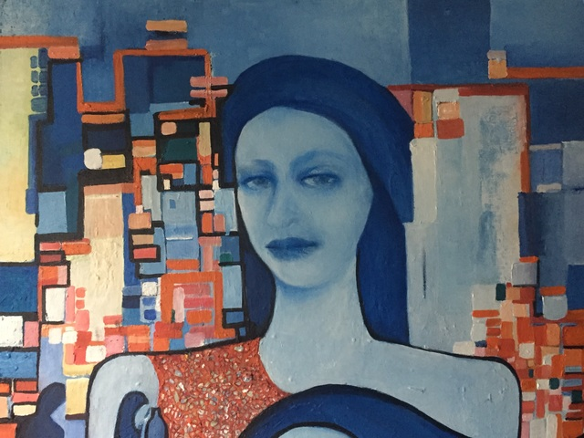 Luise Andersen  'Back To Blue Wednesday May 8', created in 2019, Original Fiber.