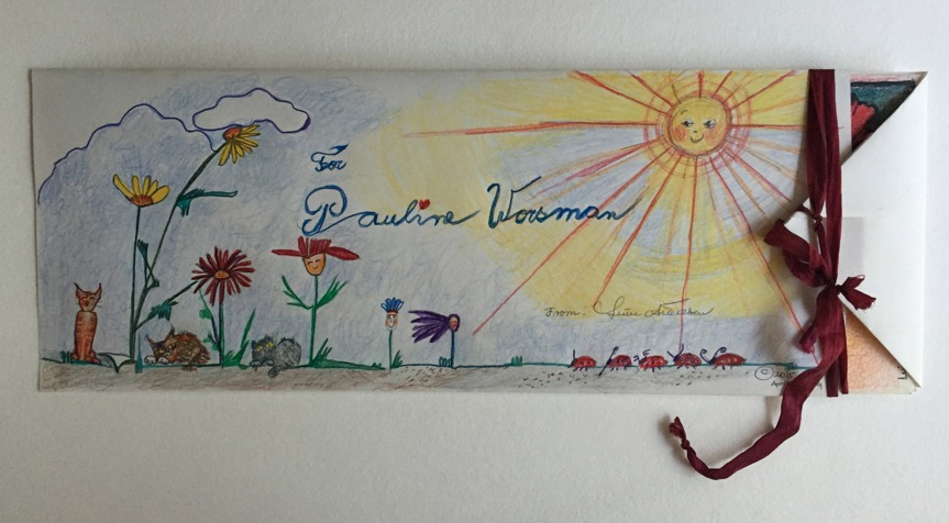 Luise Andersen Artwork Created Envelope For Birthday Card Frontside