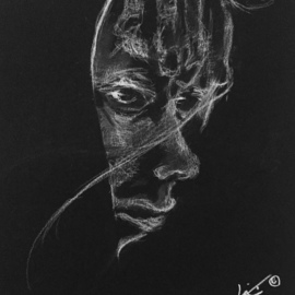 Luise Andersen Artwork dessin noir 2  june 26 2017, 2017 Charcoal Drawing, Fantasy