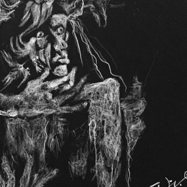 Luise Andersen Artwork dessin noir v july 3 2017, 2017 Charcoal Drawing, Fantasy