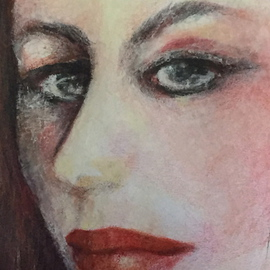 Luise Andersen Artwork detail II  JULY 14 2015 , 2015 Pencil Drawing, Portrait