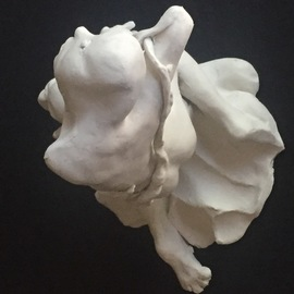 Luise Andersen: 'detail of to sculpt a tree 10', 2018 Clay Sculpture, Fantasy. Artist Description: January 27, 2018- progress is slow yet certain. new forms. . also simplyfied areas. . imagine this part of  tree  raised on lower area of trunk. . is worth the journey for me. size of sculpture fluctuates during creative process. . - - I wish for you health, love, peace. . light .   video and more ...