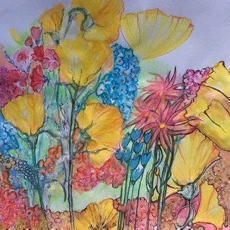 Luise Andersen Artwork express with flowers ii, 2017 Watercolor, Floral