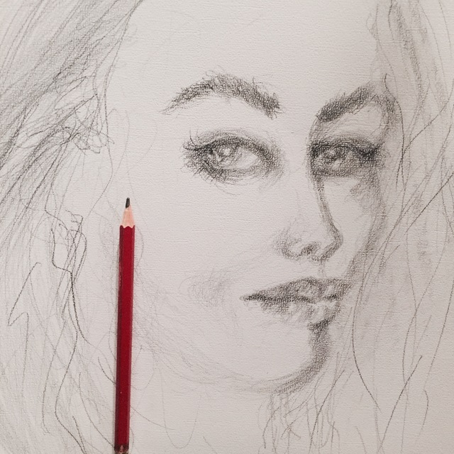 Luise Andersen  'Expression With Pencil V', created in 2017, Original Fiber.
