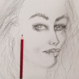 Luise Andersen Artwork expression with pencil v, 2017 Pencil Drawing, Fantasy