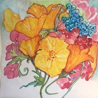 Luise Andersen Artwork from the heart art card ii, 2017 Watercolor, Floral