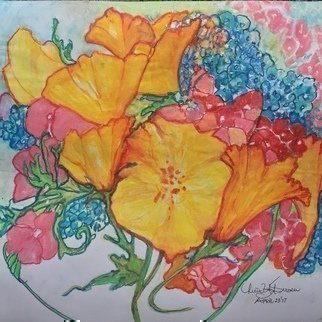 Luise Andersen Artwork from the heart artcard vii, 2017 Watercolor, Floral