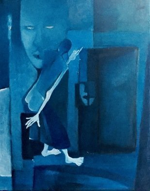 Luise Andersen: 'in the blue mood still iv', 2018 Oil Painting, Other. Artist Description: August 8,2018- . . i placed under other category, since filling that space for upload is neccessary.  this is or was an acrylic paintingi did several years ago. loved the brilliant blues. . guess not  enough , have viewed it several days and started to re work it. . in oils. changed ...