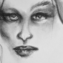 Luise Andersen Artwork migdrlg i april 15 2017, 2017 Charcoal Drawing, Fantasy