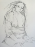 Artist: Luise Andersen, 'new Beginnings II update DRAWING PENCIL'