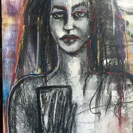 Luise Andersen: 'oct17 2017 once black on white', 2017 Other Painting, Abstract. Artist Description: . . moved from charcoal to pastel washes. . also intense application of pastel sticks. I want color now. . with the black. . grey tones. . whites. . I want colorful presence of my soul voice in imagery. . ...