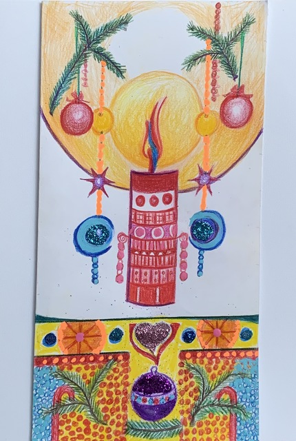 Luise Andersen  'Seasons Greetings Artcard3', created in 2019, Original Fiber.