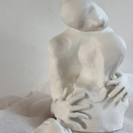 Luise Andersen Artwork to express feel in sculpture VI, 2016 Clay Sculpture, Abstract