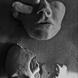 Luise Andersen: 'to reconstruct in new feel II', 2015 Clay Sculpture, Surrealism. Artist Description:  . . in black and white photography . .  ...