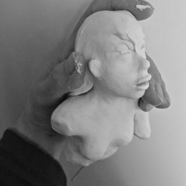 Luise Andersen: 'to sculpt feel raw emotion IC', 2015 Clay Sculpture, Abstract. Artist Description:  . . so this is the last day of July. . and i felt like touching the clay. . feel sculpts the image. . is going my core's way. . i let it rest a little bit. . so humid and warm. . clay gets too soft while forming. . so. . needs rest. .we will see. . ...