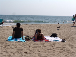 Color Photograph by Luise Andersen titled: zuma beach  Relax At Zuma Beach, created in 2008