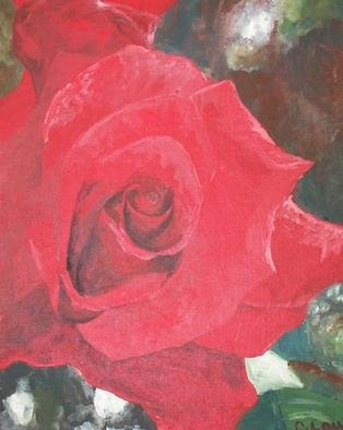 C. Lou  'Red', created in 2000, Original Painting Oil.