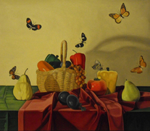 - artwork Still_Life_with_6_Butterflies-1351990315.jpg - 2001, Painting Oil, Still Life