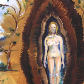 Laura Luz Cuevas: 'Being-for-Other', 2003 Oil Painting, nudes.