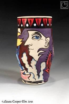 Laura Elm: 'Woman In Flux', 2010 Wheel Ceramics, Figurative. Artist Description:  from the Creature of Habit Series ...