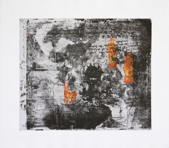 Laura Gamboa  'Place Connecting With Time', created in 2008, Original Printmaking Etching.