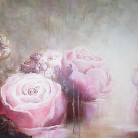 Jane De France Artwork Rose Water IV, 2012 Acrylic Painting, Floral