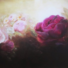 Jane De France Artwork The Wild Rose Garden, 2011 Acrylic Painting, Floral