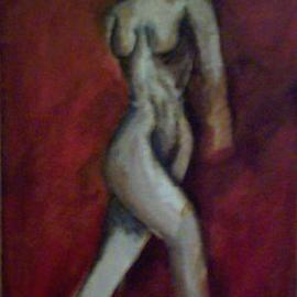 Lauren M Geraghty: 'The Twisted Woman', 1997 Acrylic Painting, Nudes.