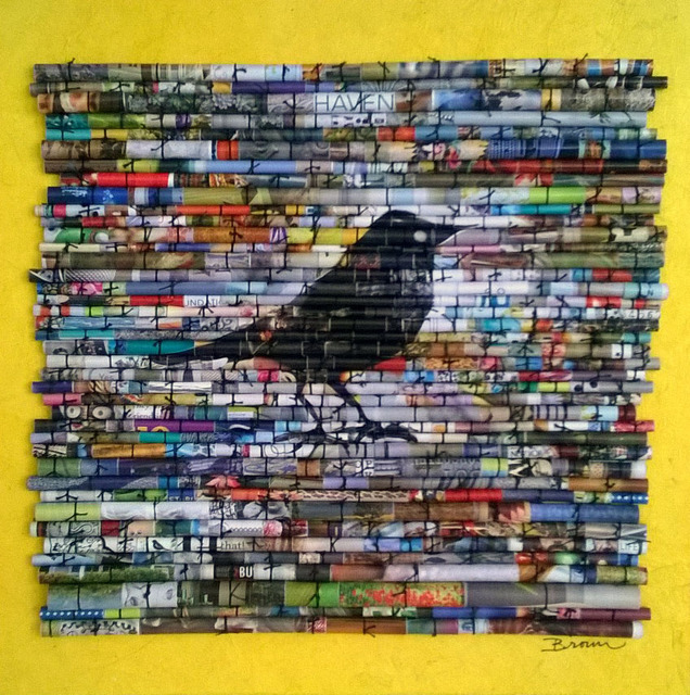 Laurie Brown  'Black Bird', created in 2014, Original Paper.