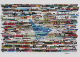 Laurie Brown: 'Blue Bird', 2014 Paper, Animals.  This is the second image in a new series I'm calling