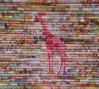 Laurie Brown Artwork Pink Giraffe, 2014 Paper, Animals